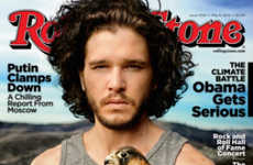 Hawk-Holding Celeb Cover Shoots - The Rolling Stone Issue Stars Actor Kit Harrington