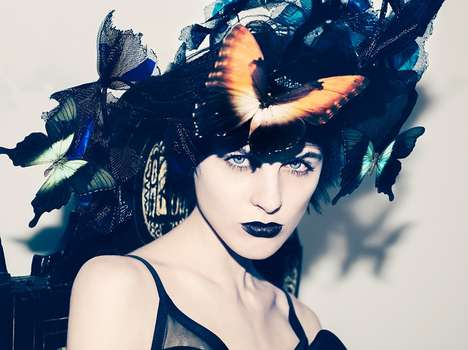 Gothic Butterfly Editorials - Lina Fox Stars in the CR Fashion Book Spring 2014 Issue