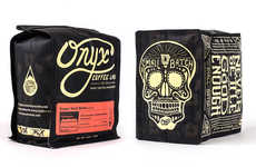 Skull-Adorned Bean Branding - New Packaging for Onyx Coffee Lab Will Bring You Back to Life