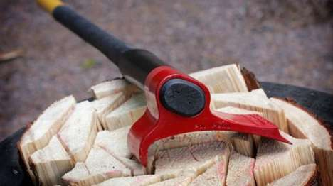 Remodelled Curved Hatchets - The Vipukirves Axe by Heikki Karna Requires Less Force to Split Wood
