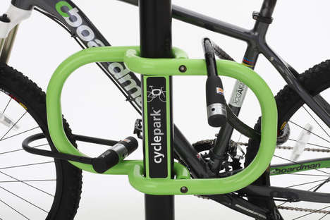 sign bike rack