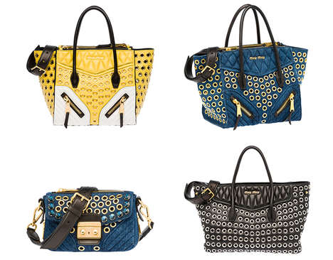 Biker Handbag Collections - These Miu Miu Biker Bags are Inspired by Leather Jackets and Biker Wear