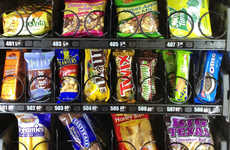 Snack Shaming Vending Machines - An Incentivizing Healthy Vending Machine Tweets Every Purchase Made