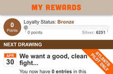 Incentivized Loyalty Apps - Hooters' HootClub Customer Loyalty App Gives Frequent Diners Big Prizes