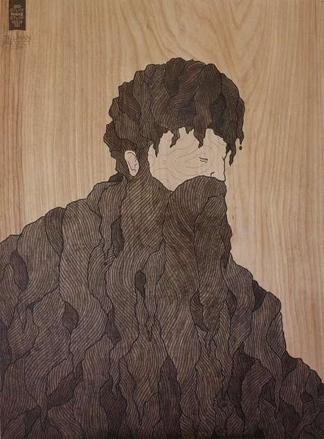 Bearded Timber-Made Characters - Wood Works I by Clint Reid is Cartoonishly Earthy