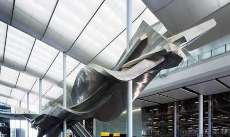Stunt Plane Sculptures - The 'Slipstream' Sculpture is Inspired by Spiral Flight Paths