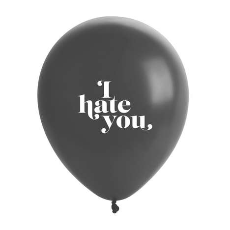 Crudly Straightforward Balloons - The Jerk Balloons are a Rudely Blunt Party Favor