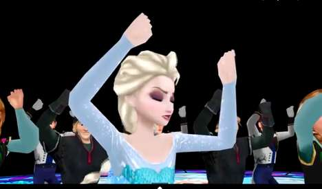 Thrilling Disney Mashups - This Animated Thriller Dance and Frozen Mashup Video is Cooler than Cool