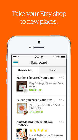 Mobile Shopkeeper Apps - The 'Sell on Etsy' App is Specifically Designed Just for the Etsy Seller