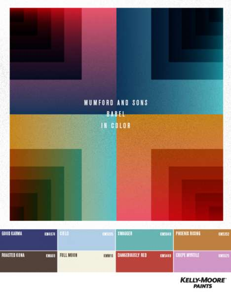Sound-Coordinated Graphics - The 'Sound of Color' Graphic Uses Colors Inspired by Music