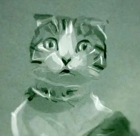Iconic Watercolor Felines - Richard Swarbrick Depicted Famed YouTube Cats in Watercolor