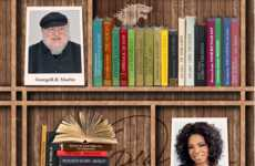 Celebrity Bookshelf Infogrpahics