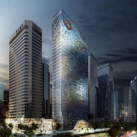 Animated Facade Headquarters - UNStudio is Set to Redo the Hanwha Headquarters in Seoul