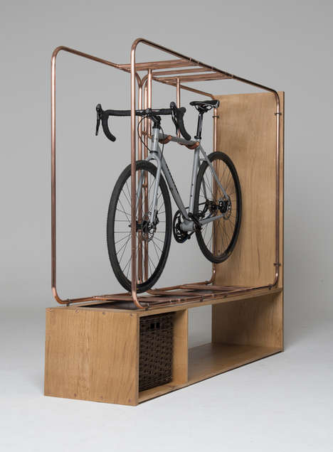 Stylish Bicycle Racks - Stasis by Method Studio is Fit for an Art Gallery