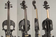 Hand-Carved Skull Violins - These Violins Make Playing the Strings More Epic