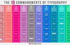 Fundamental Typography Infographics - This Infographic Gives the 10 Commandments of Text Fonts
