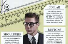 Stylish Suit Infographics - This Infographic Illustrates How to Findthe Perfect Men's Suit