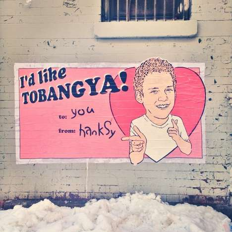 Punny Pop Culture Graffiti - Hanksy Scoured the Streets of NYC to Create Pun-Filled Artwork