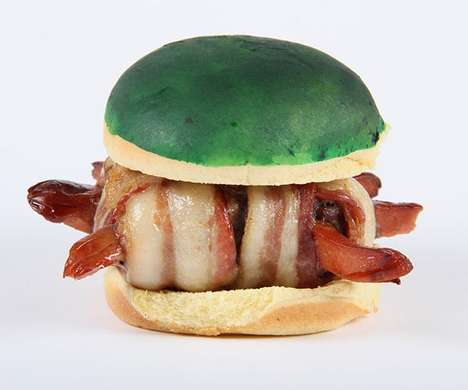 Gamified Character Burgers - This Video Game-Themed Bacon Burger is Shaped Like a Koopa Troopa