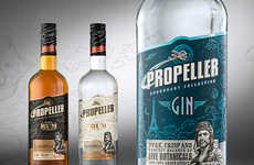 Pilot-Based Booze Packaging - Flight Stories Inspire the Propeller Design Process by Studio Creata