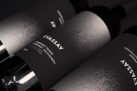 Extreme Minimalist Wine Packaging - Kvassay Vino Uses Simplistic Black and White Color Schemes