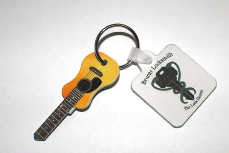 Acoustic Guitar Keys - This Kitschy Key Design Takes Influence from a Musical Instrument