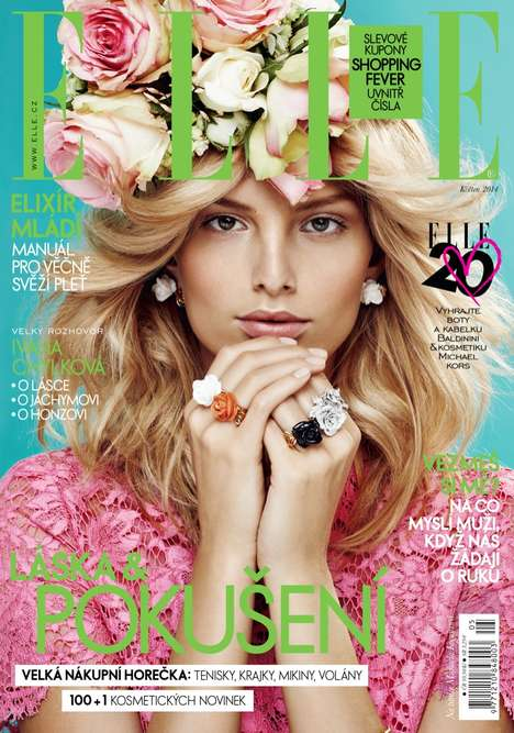 Hippie Floral Photography - Michaela Kocianova Stars in the Elle Czech Issue