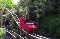 Makeshift Home Roller Coasters - This Father Made a Fully Functioning Roller Coaster in His Home