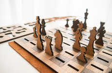 Flattened Chess Sets - The Got Chess? Set is Inspired by a Stylish Leather Notebook