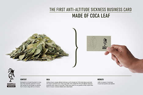 Medicinal Business Cards - Lanfranco & Cordova Made an Edible Business Card for Altitude Sickness