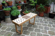 Chess Board Benches