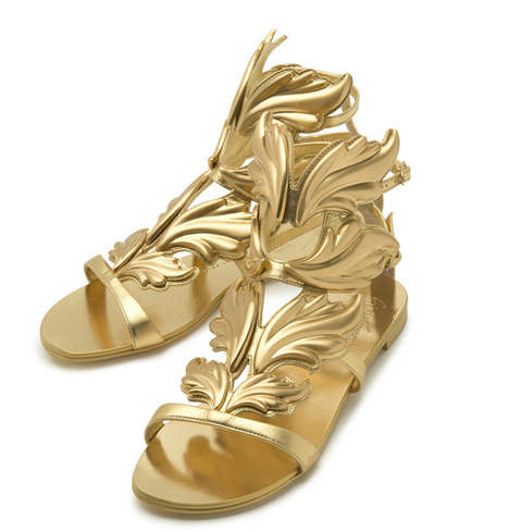 Golden Grecian Shoes - This Capsule Collection Celebrates the Giuseppe Zanotti 20th Anniversary