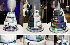 Dual-Design Wedding Cakes