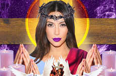 This Kim Kardashian Graphic Collage is Religiously Themed
