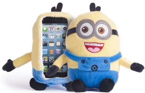 Playful Plush iPhone Cases - This Despicable Me Minion SmartPhone Cover is Ideal for All Ages