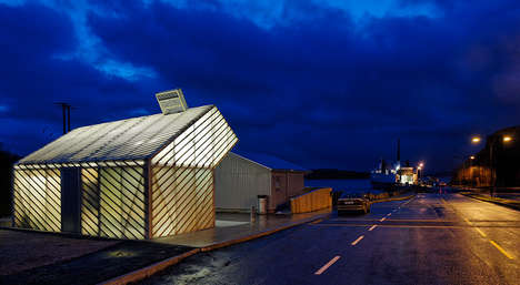 Layered Ferry Terminals - The Jektvik Ferry Quay by Carl Viggo Holmebakk