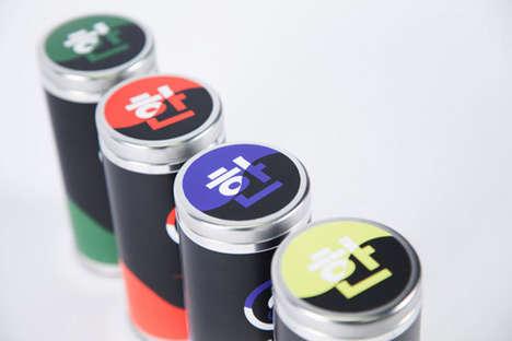 Colorblocked Tea Branding - Roberta Choi Uses Bright Hues for Han Tea