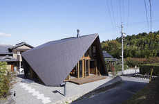 Folded Roof Residences - The ORIGAMI House by TSC Architects is Modern and Sculptural