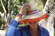 12 DIY Hat Activities - From Chic DIY Monogram Hats to Colorfully Accented Straw Hats