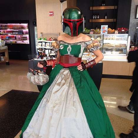 Intergalactic Prom Dresses - This Girl is the Envy of Her Class with This Star Wars Prom Dress Idea