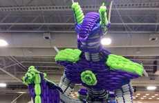 Robot Balloon Sculptures - John Reid's Poptimus Prime Balloon Sculpture Set a World Record