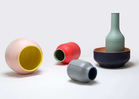 colorful ceramic tableware