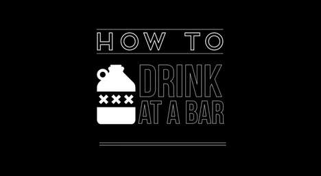 Instructional Drinking Guides - Vans and Gavin Mcinnes Team Up to Show 'How to Drink at a Bar'