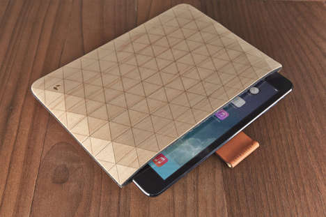 wooden ipad cover