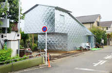 Quilted Aluminum Abodes - The Aluminum Cladding on this Japanese Home Makes it Unique and Space-Age