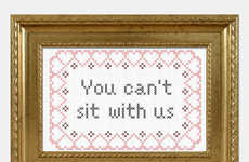 Cult Film Decor - This Cross-Stitch is Mean Girls Memorabilia for the Home