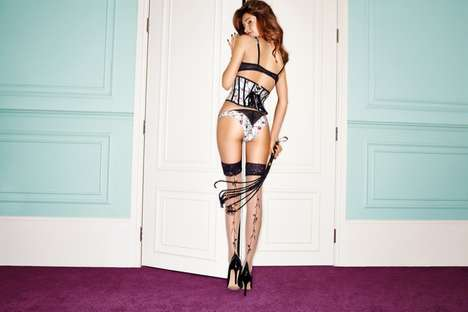 Playful Lingerie Lookbooks - The Giles x Ann Summers Lingerie Line is Seductive and Fun