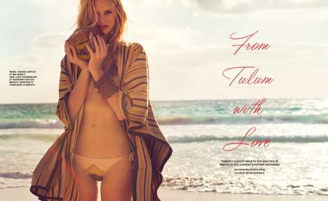 Hippie Beach Editorials - Nadine Leopold Stars in the Foam Magazine May/ Issue