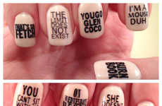 Cult Film Manicures - These Mean Girls Beauty Nail Decals are Made with Quotes from the Film