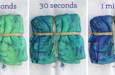 Handmade Tie-Dye Handkerchiefs - The Cupcakes and Cashmere Indigo Dye Napkins Are DIY